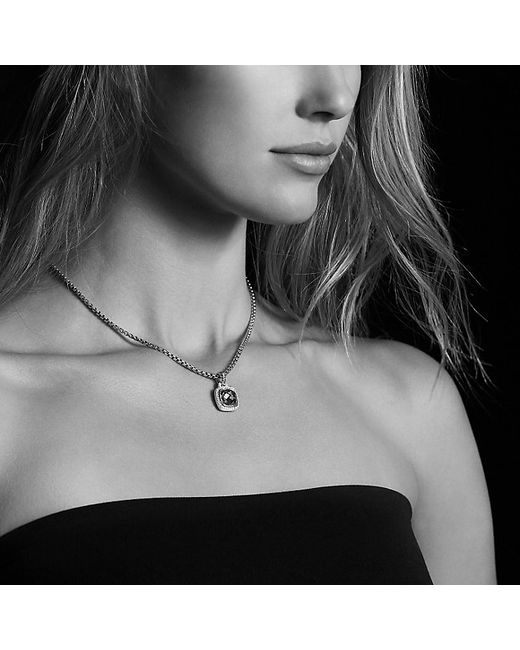 David Yurman | Albion Pendant With Black Orchid And Diamonds, 11mm | Lyst