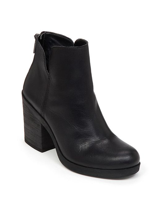 Lucky Brand | Black Orsann Leather Ankle Boots | Lyst