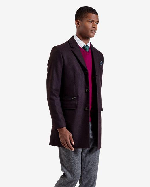 Ted Baker | Textured Wool Overcoat for Men | Lyst