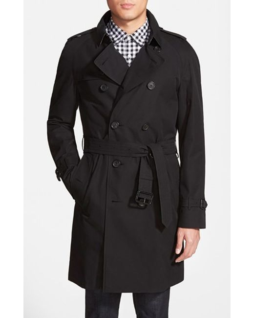 Burberry 39 wiltshire 39 trim fit double breasted trench coat for Mens big and tall burberry shirts