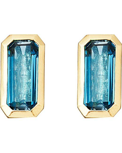 Astley Clarke | 18ct Gold Vermeil Blue Topaz Earrings | Lyst