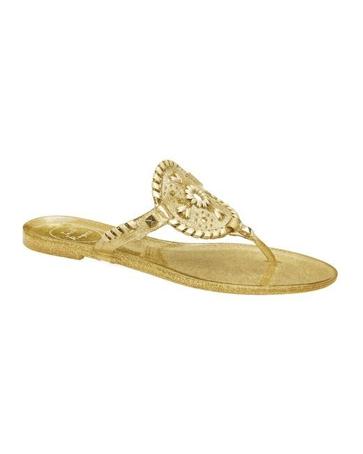 Jack Rogers | Metallic Sparkle Georgica Jelly | Lyst
