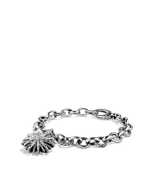 David Yurman   Metallic Charm Bracelet With Diamonds   Lyst