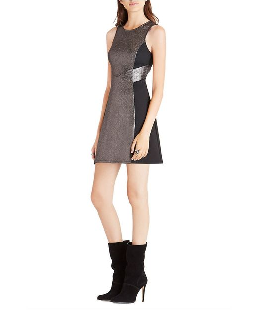 Bcbgeneration Metallic Colorblocked Fit And Flare Dress In