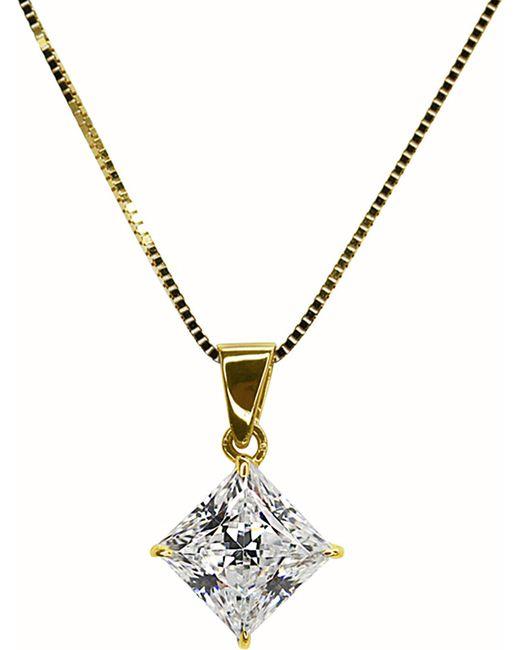 Carat*   Metallic Princess 1ct Pendant Necklace   Lyst