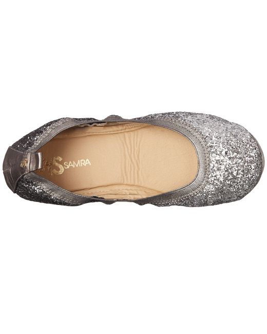 Yosi Samra Serena Ombre Chunky Glitter Fold Up Flat In