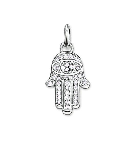 Thomas Sabo | White Karma Beads Hand Of Fatima Pendant | Lyst