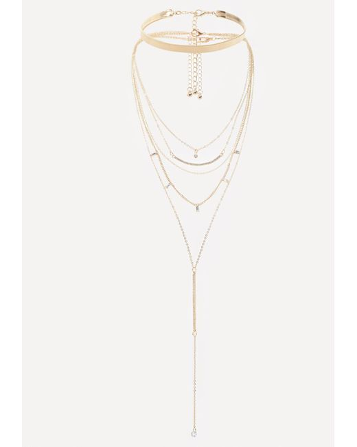 Bebe | Multicolor Delicate Layered Necklace | Lyst