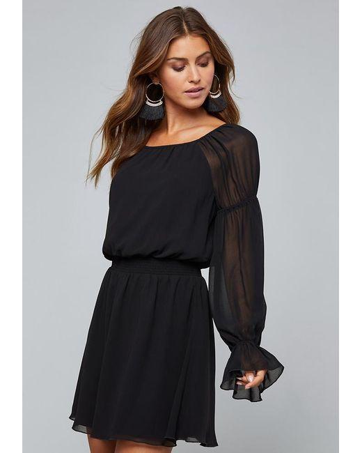 36755c5a9a Lyst - Bebe Poet Sleeve Dress in Black - Save 17%