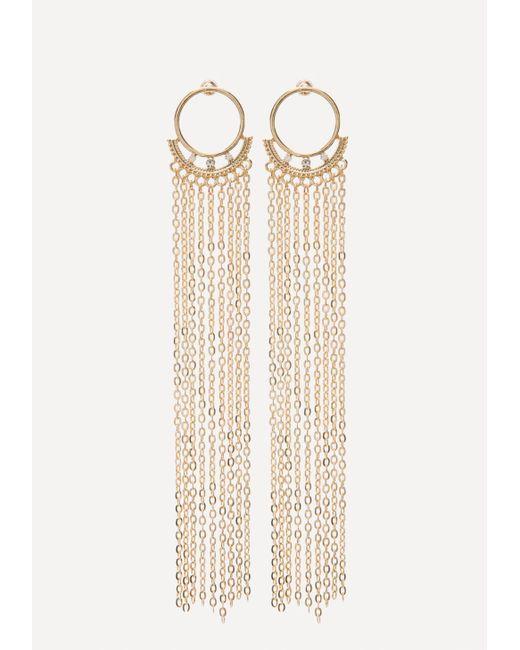 Bebe - Multicolor Chain Duster Earrings - Lyst