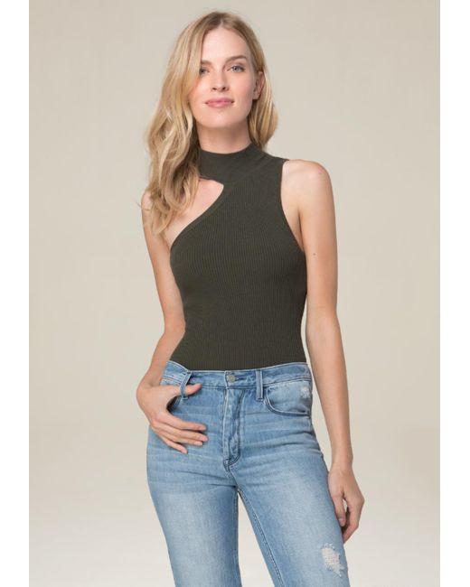 Bebe | Multicolor One Shoulder Bodysuit | Lyst