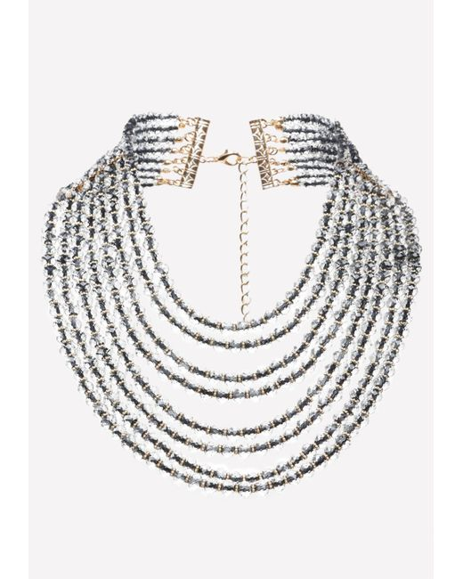 Bebe   Multicolor Beaded Waterfall Necklace   Lyst