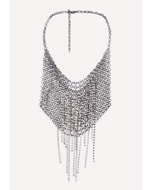Bebe | Multicolor Chainmail Bib Necklace | Lyst