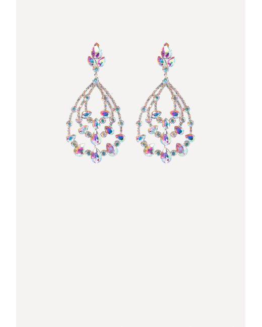 Bebe - Multicolor Crystal Teardrop Earrings - Lyst