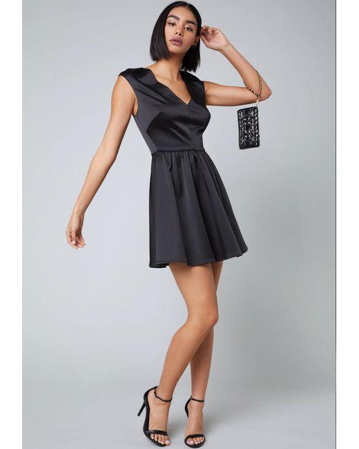 Bebe - Black Tiana Fit & Flare Dress - Lyst