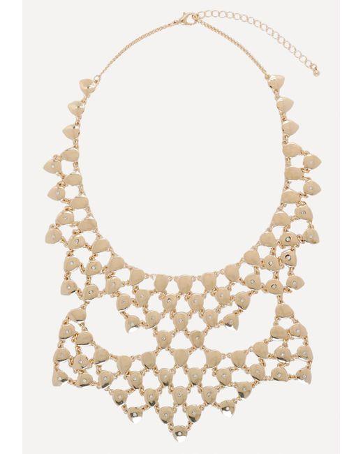 Bebe | Metallic Teardrop Bib Necklace | Lyst