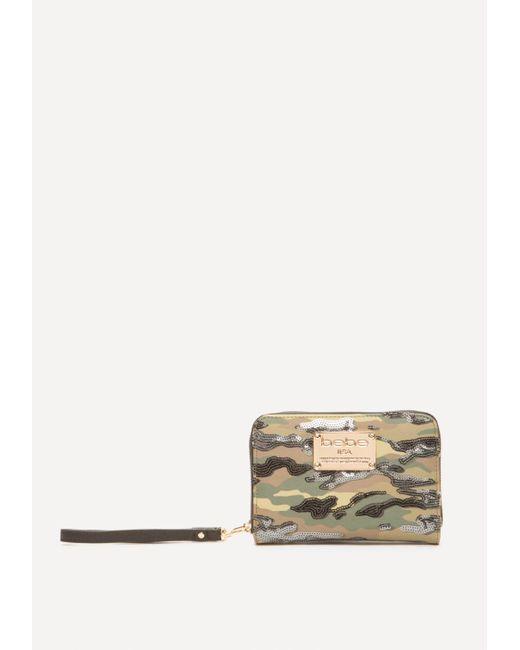 Bebe | Multicolor Jane Sequin Camo Wristlet | Lyst