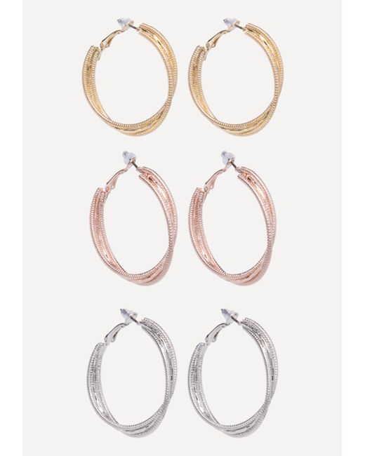 Bebe - Multicolor Multi-hue Hoop Earring Set - Lyst