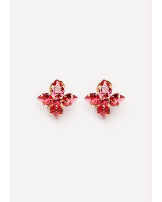 Bebe | Red Floral Stud Earrings | Lyst