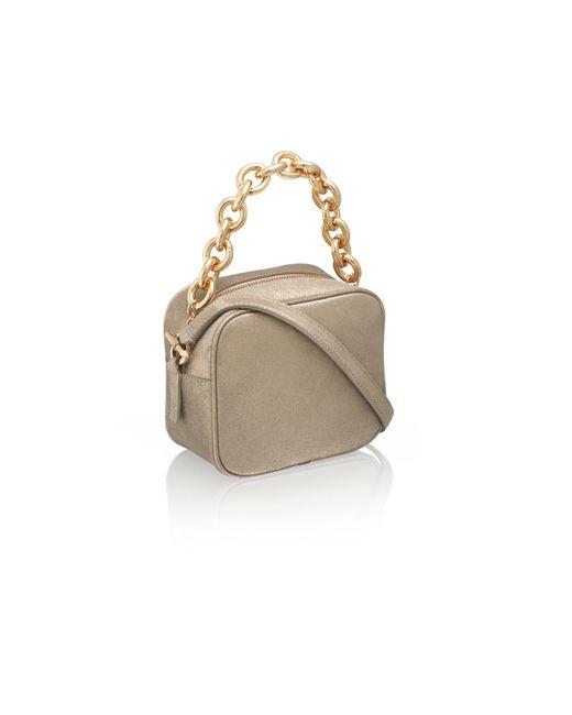 amanda wakeley jackson champagne pochette bag in gold champagne lyst. Black Bedroom Furniture Sets. Home Design Ideas