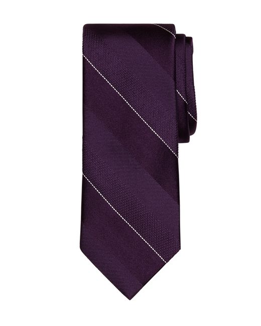 Brooks Brothers | Purple Pic Stripe Tie for Men | Lyst