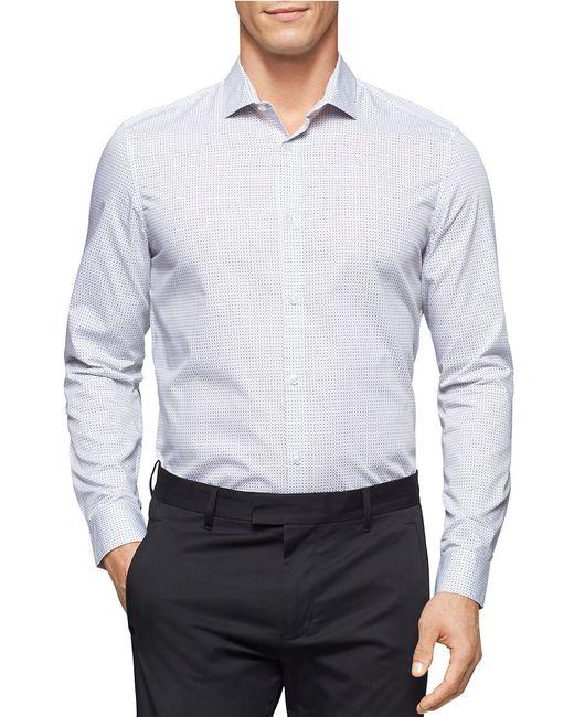 Calvin Klein   White Checked Sportshirt for Men   Lyst