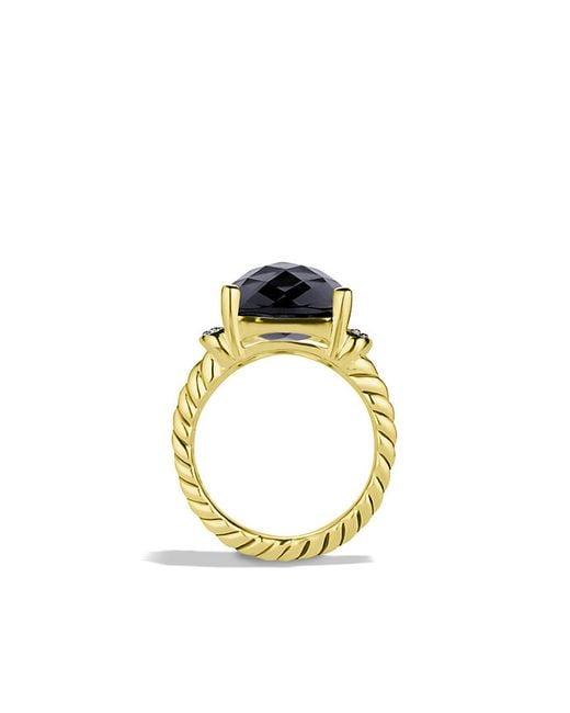 David Yurman   Wheaton Ring With Black Onyx And Diamonds In 18k Gold   Lyst
