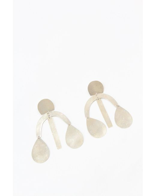 Annie Costello Brown - Multicolor Arc Drop Chandelier Earring Silver - Lyst