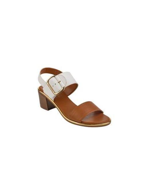 a5788cf9c64b Lyst - Tommy Hilfiger Katz Block Heel Sandals in Brown