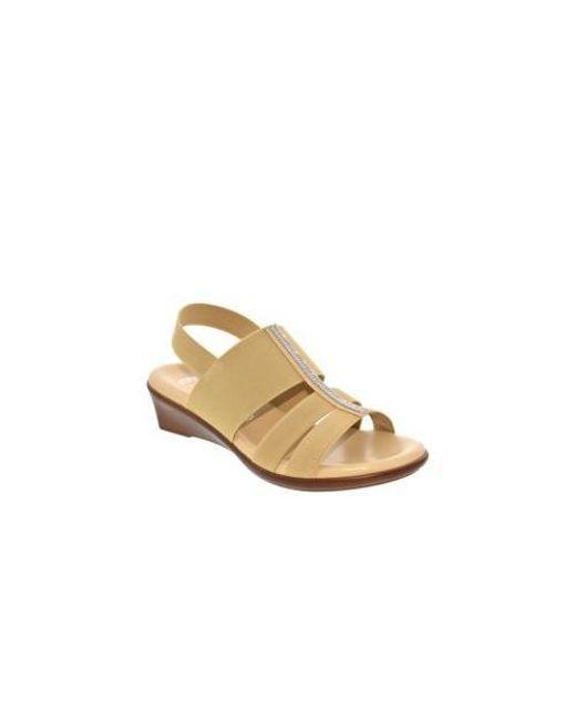 94acadfbc06 Italian Shoemakers - Multicolor Cache Stretch Slingback Wedge Sandal - Lyst