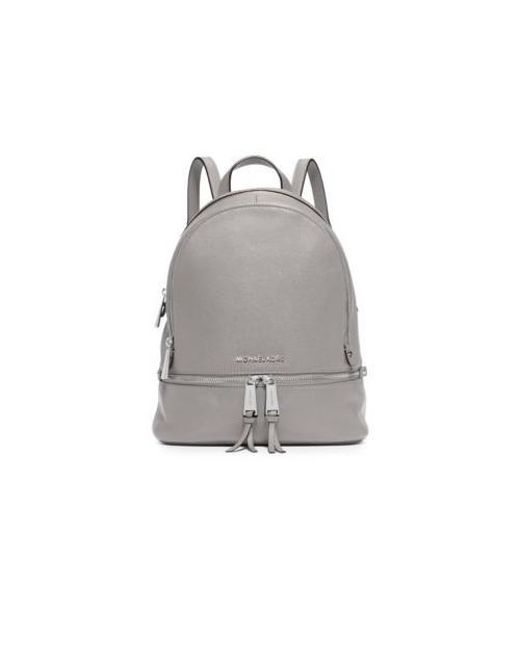 59cca6f7adfd Lyst - Michael Michael Kors Rhea Zip Small Backpack in Gray