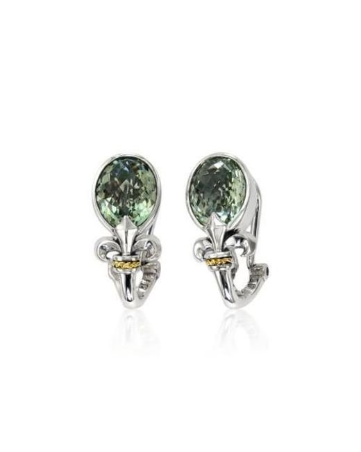 Effy Green Amethyst Earrings In Sterling Silver And 18k Yellow Gold Lyst