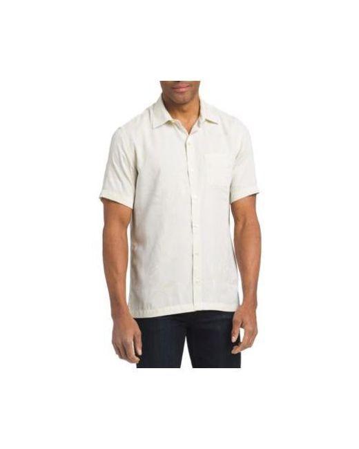c5c8897a76de3 Van Heusen - White Short Sleeve Air Print Jacquard Button Down Shirt for  Men - Lyst