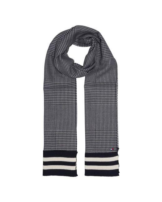 Tommy Hilfiger | Gray Knit Stripe End Scarf for Men | Lyst
