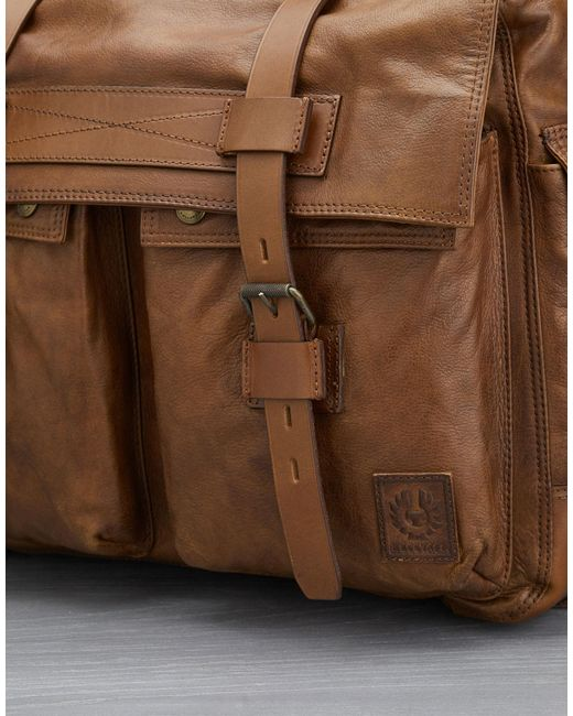 e59e15c37f ... Belstaff - Brown Colonial Messenger Shoulder Bag for Men - Lyst ...