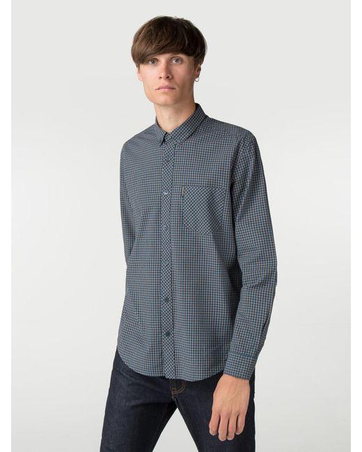Ben Sherman - Blue Long Sleeve New Mini House Gingham Shirt for Men - Lyst