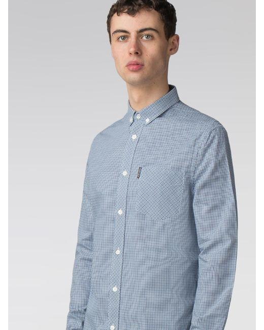 Ben Sherman - Blue Long Sleeve Mini House Gingham Shirt for Men - Lyst