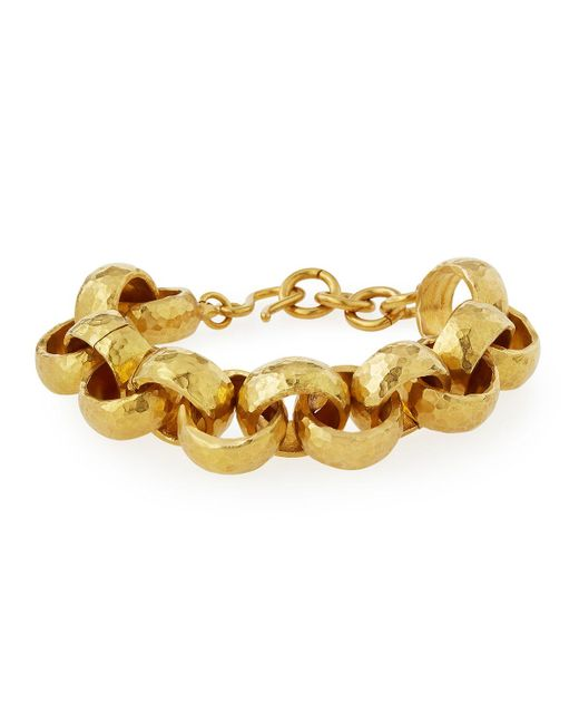 Ashley Pittman | Metallic Usawa Hammered Bronze Bracelet | Lyst