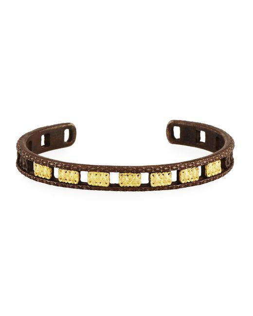 Armenta | Metallic Old World Midnight Open Carved Cuff Bracelet | Lyst