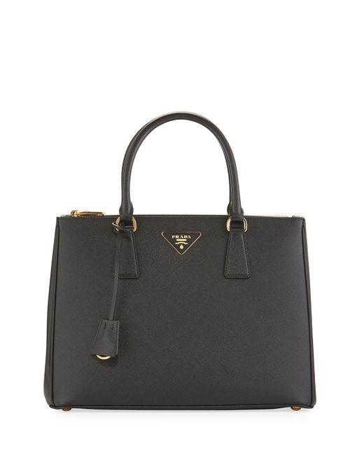 Prada - Black Galleria Medium Saffiano Tote Bag - Lyst