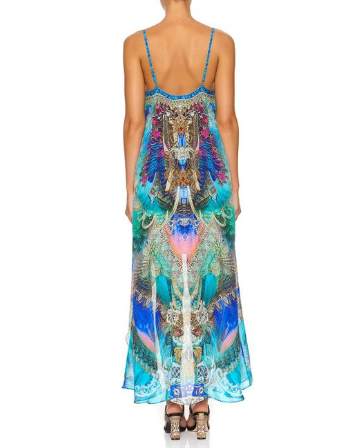 eac79ec54a7a2 ... Camilla - Blue Freedom Flight Mini Dress With Long Overlay - Lyst ...