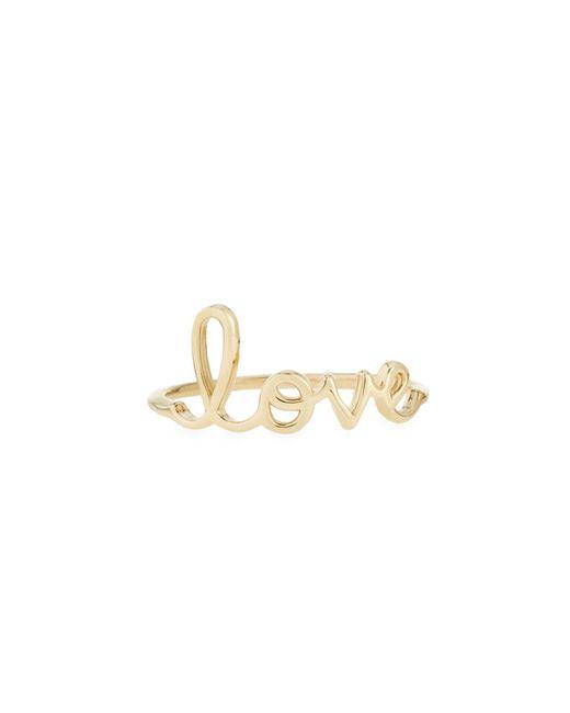 Sydney Evan - Metallic 14kt Yellow Gold Love Ring - Lyst