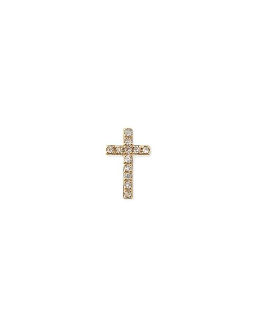 Sydney Evan | Metallic 14k Gold Diamond Cross Single Stud Earring | Lyst
