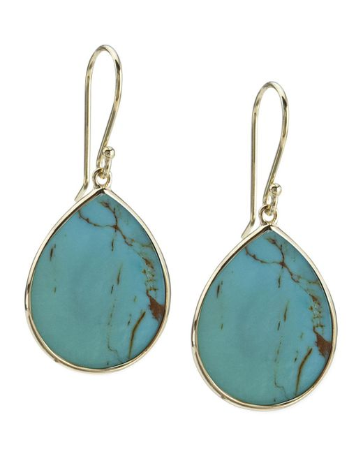 Ippolita - Blue 18k Small Teardrop Slice Earrings In Turquoise - Lyst