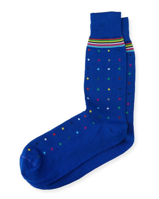 Paul Smith - Blue Pin Dot Sock for Men - Lyst