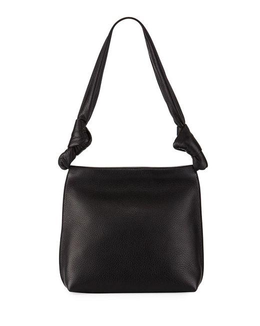 The Row   Black Small Wander Shoulder Bag   Lyst