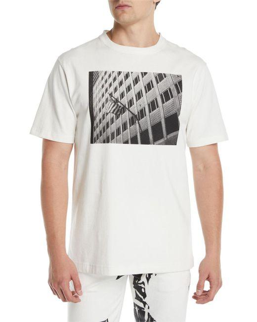 CALVIN KLEIN 205W39NYC - White Men's Photographic Flag T-shirt for Men - Lyst