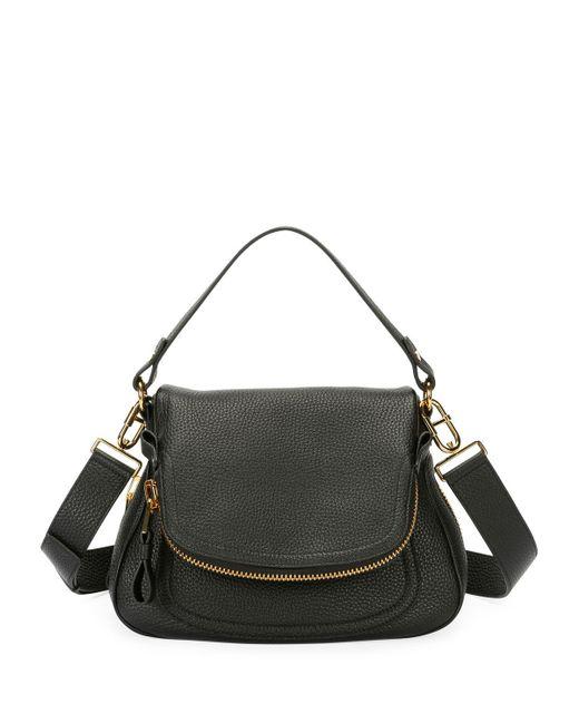 Tom Ford - Black Jennifer Large Grained Leather Saddle Bag - Lyst