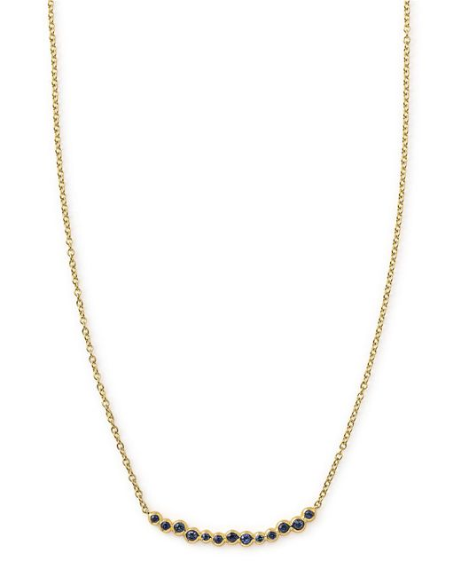 Ippolita - Metallic 18k Glamazon Stardust Smile Bar Necklace With Blue Sapphires - Lyst