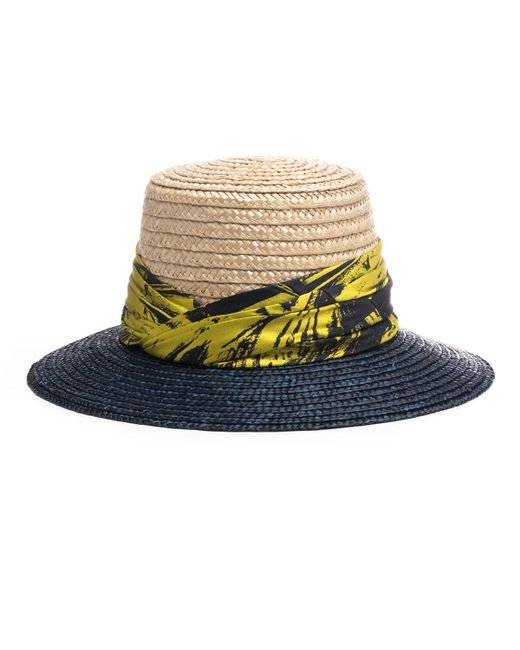 Eugenia Kim - Multicolor Stevie Two-tone Straw Sun Hat - Lyst